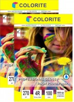 Colorite 270gsm Rc Inkjet Waterproof Unruled 4R Photo Paper(Set of 2, White)