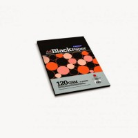 Campap Extra Black Unruled A4 80 gsm Multipurpose Paper(Set of 2, Black)