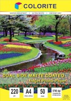 Colorite 220gsm Sheets Dual Side Matte Coated Unruled A4 220 gsm Photo Paper(Set of 1, White)