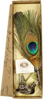 Rubinato 1520/Q PEACOCK FEATHER WITH PEN REST Pen Gift Set