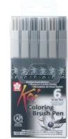 SAKURA Koi Coloring Brush Calligraphy(Pack of 6)