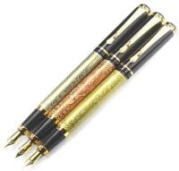 auteur Auspicious Running Horses In Copper Pen Gift Set(Pack of 3, Blue)