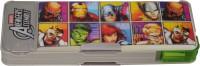 Marvel AVANGER Superhero Art PLASTIC Pencil Box(Set of 1, GRAY, GREEN)