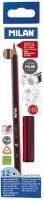 Milan 0712370312 Pencil(Set of 1, Red, Black)