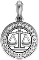 Jewelslane Libra Diamond Silver, Copper, Fabric Pendant