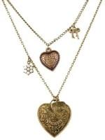 GirlZ! ancient ways peach heart double layer Alloy Pendant