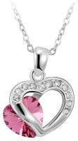 GirlZ! Austrian crystal pink double heart Alloy Pendant