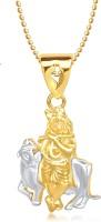 Meenaz Krishna God Pendant With Chain Gifts Jewellery Set Brass, Yellow Gold Cubic Zirconia, Diamond Alloy Pendant