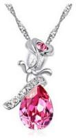 GirlZ! Pink Rose Alloy Pendant