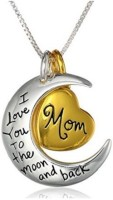 GirlZ! I Love You To Moon And Back Mom Alloy Pendant