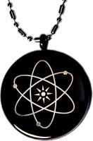 Aarogyam Energy Jewellery Magnetic MST Black Silver Stainless Steel Pendant
