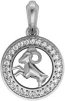Jewelslane Aries Diamond Silver, Copper, Fabric Pendant