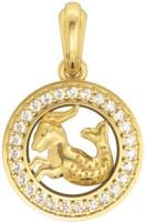 Jewelslane Capricorn Diamond Metal, Silver, Copper, Fabric Pendant