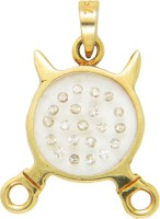 Popleys Love Forever 18kt Diamond Yellow Gold Pendant