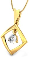 Samaira Gem and Jewelery Love Forever 14kt Swarovski Crystal Yellow Gold