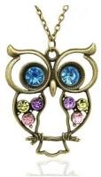 GirlZ! crystal owl Alloy Pendant