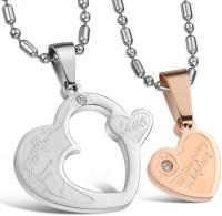 GirlZ! Double Heart Couple Alloy Pendant Set