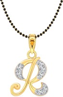 Vighnaharta Gold-plated Cubic Zirconia Alloy Pendant
