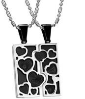 GirlZ! Romantic Black Love Couple (His And Hers) Alloy Pendant Set