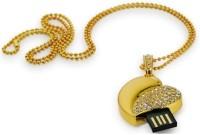 Microware Heart Shape 16 GB Pen Drive(Gold)