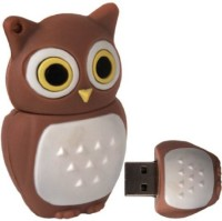 Microware Owl 32 GB Pen Drive(Brown)