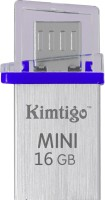 View Kimtigo Mini On the Go Pendrive for phones and Computers - Made in Taiwan 16 GB OTG Drive(Blue, Type A to Micro USB) Price Online(Kimtigo)