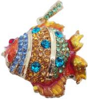 Microware Golden Fish Shape Jewellery Designer Pen Drive 4 GB(Golden)