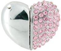 Microware Heart Shape Pink Jewellery Designer Pen Drive 4 GB(Silver)