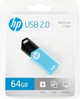 HP V150W 64 GB Pen Drive(Blue)