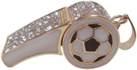 Quace Football Whistle 16 GB Pen Drive(Gold)