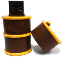 Microware Barrel 8 GB Pen Drive(Brown)