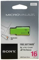 Sony USM16M 1/G IN MICROVAULT 16 GB Pen Drive(Green)