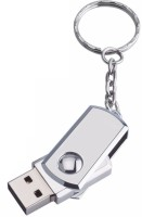 View Eshop Twister Metal USB FlashDrive 2.0 Memory Stick with Keyring 16 GB Pen Drive(Silver) Laptop Accessories Price Online(Eshop)