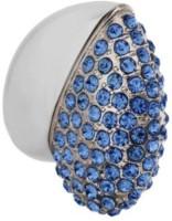Digitalk Solution Fancy Jewel Heart Shape 8 GB Pen Drive(Blue)