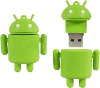 Microware Android Shape Fancy 16 GB Pen Drive(Green)