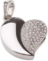 Quace Silver Heart 8 GB Pen Drive(Multicolor)