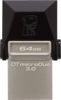 View Kingston Data Traveler 3.0 MicroDuo 64 GB OTG Drive(Silver, Black, Type A to Micro USB) Laptop Accessories Price Online(Kingston)