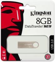 View Kingston SE9 8 GB Pen Drive(Silver) Laptop Accessories Price Online(Kingston)