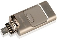 ROQ 3 IN 1 I FLASH DRIVE For iOS Android And PC 32 GB Pen Drive(Multicolor)