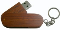 Eshop Swivel Wooden USB Flash Drive 4 GB Pen Drive(Brown)