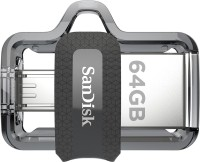 SanDisk Ultra Dual SDDD3-064G-I35 64 GB OTG Drive(Black, Type A to Micro USB)