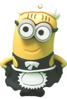 Microware Minion Cartoon Maid 8 GB Pen Drive(Black, Yellow, Multicolor)