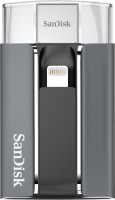 SanDisk iXpand 128 GB Flash Drive for iPhone and iPad(Silver, Type A to Lightning)