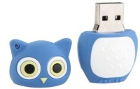 Microware Owl Shape 16 GB Pen Drive(Blue)