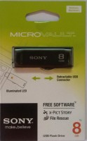 Sony Micro Vault 8 GB Pen Drive(Black)