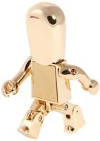 Quace Flexible Robot 16 GB Pen Drive(Gold)