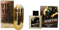 Ramco 919 VIP and Wanted Combo Eau de Parfum  -  200 ml(For Boys)