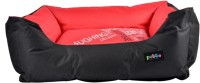 Petto Lounger Waterproof Bed For Dog, Medium Size M Pet Bed(Red, Black)
