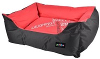 Petto Lounger Waterproof Bed For Dog L Pet Bed(Red, Black)