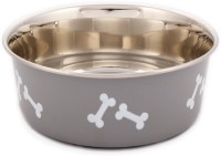 Petto Extra Heavy designer Stainless Steel Pet Bowl(0.53 L Silver)